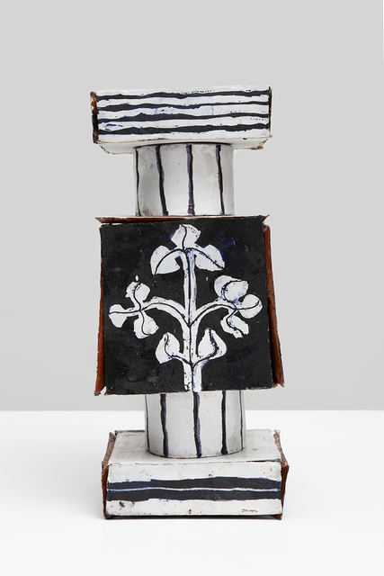 , 'Small Assembled Square Tile Stack with Flowers and Hourglass,' 2017, Gavlak