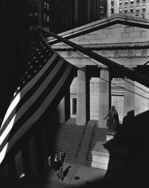 , 'Treasury Building from J.P. Morgan's Office,' 1935, Holden Luntz Gallery