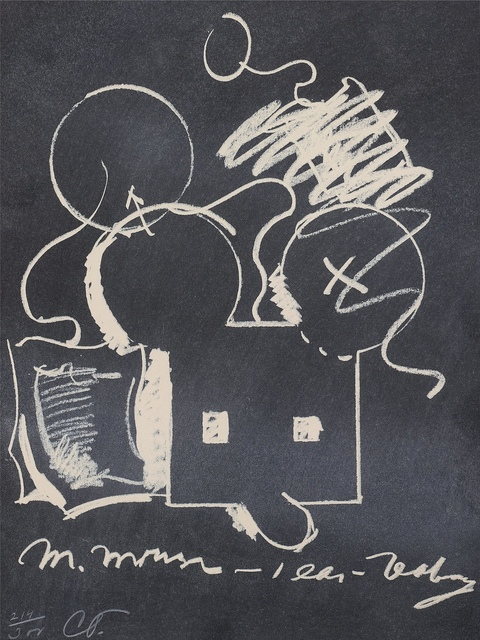 Claes Oldenburg, 'M. Mouse (with) 1 Ear (equals) Tea Bag Blackboard Version (1965)', 1973, Forum Auctions
