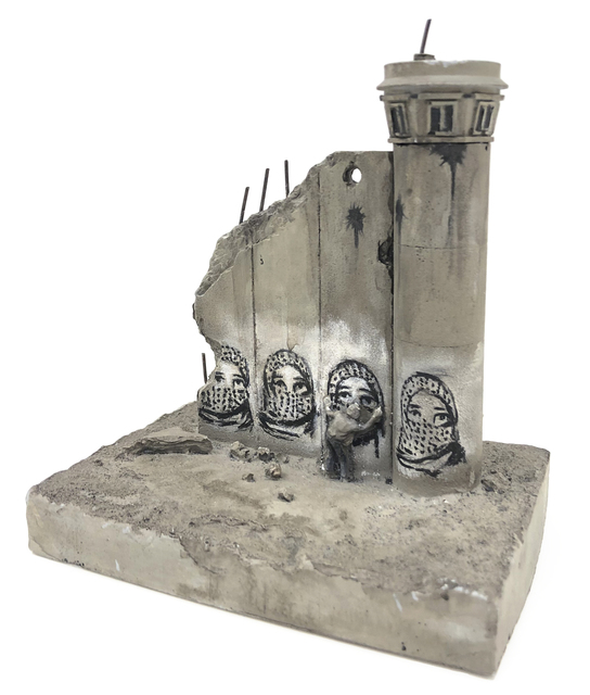 Banksy, 'Walled Off Hotel - Four Part Souvenir Wall Section With Watch Tower', Sculpture, Hand painted resin sculpture, Tate Ward Auctions