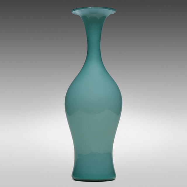 Paolo Venini, 'Monumental Opalino vase, model 3556', 1950, Wright