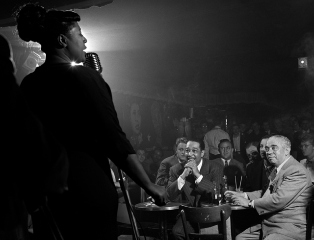 , 'Ella Fitzgerald, Duke Ellington, Benny Goodman, Downbeat Club, 52nd St., NYC,' 1948, Robert Mann Gallery