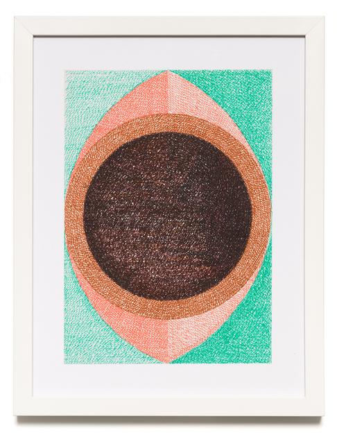 Sharmistha Ray, 'IAMEYE.MYBROWNEYE', 2020, Drawing, Collage or other Work on Paper, Automatic writing with colored pens on archival sketchbook paper, Carrie Secrist Gallery