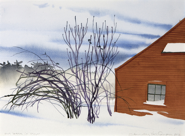 , 'Our Barn in Snow,' , Dowling Walsh