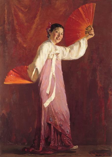 , 'Portrait of the Dancer Choi Seunghee,' 1954, Hakgojae Gallery