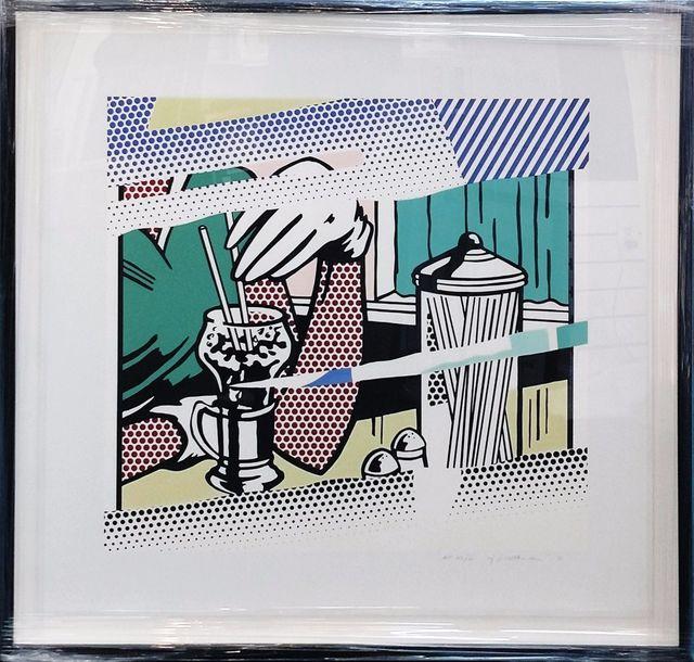 Roy Lichtenstein, 'REFLECTIONS ON SODA FOUNTAIN', 1991, Print, SCREENPRINT, Gallery Art