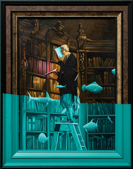 André Schulze, 'The bookworm', 2020, Painting, Oil on canvas, Paradigm Gallery + Studio