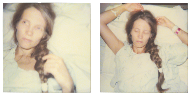 Stefanie Schneider, 'Sleep (Burned), diptych', 1999, Photography, Print on Velvet Watercolor, 310gsm, No OBAs, Bright White, Acid Free, not mounted, Instantdreams