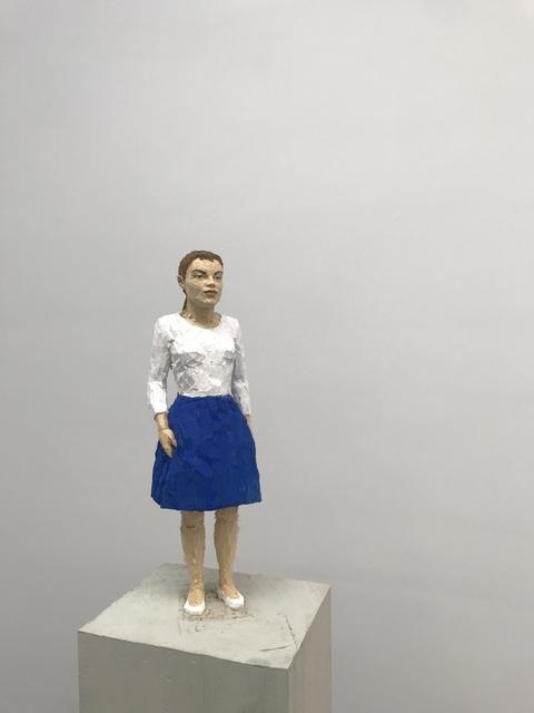 Stephan Balkenhol, 'Frau mit blauem Rock', 2019, Deweer Gallery