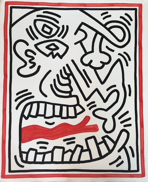Keith Haring, 'Untitled (Red Tongue)', 1985, michael lisi / contemporary art