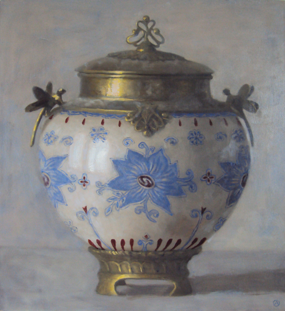 , 'Urn with Blue Flower Motif,' 2015, Gallery Henoch
