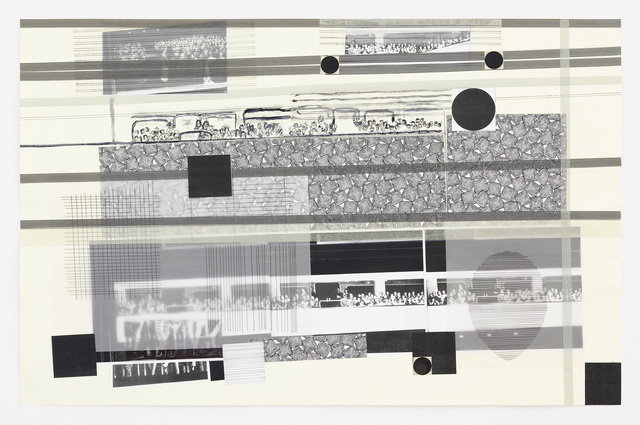 , 'Again Audience / Collage 5,' 2012, Galerie Andreas Huber
