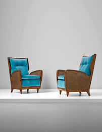 Gio Ponti, 'Rare pair of armchairs, model no. 489,' 1950s, Phillips: Design