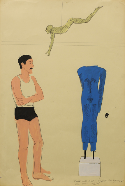 , 'David with Greek and Egyptian Sculptures # 1,' 1976, Anglim Gilbert Gallery