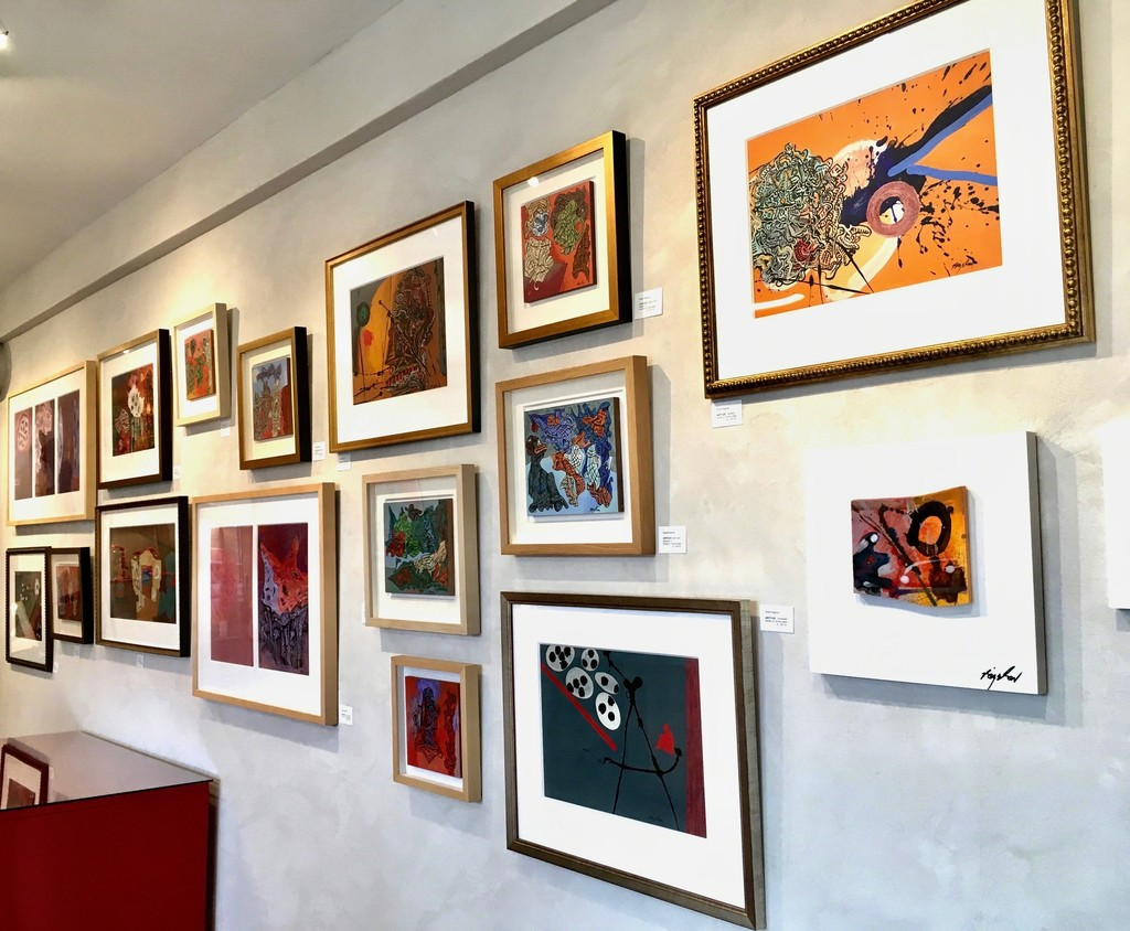 A series of acrylic paintings by artist Robert Bigelow as part of the exhibition. All the paintings are exquisitely framed with archival museum framing.