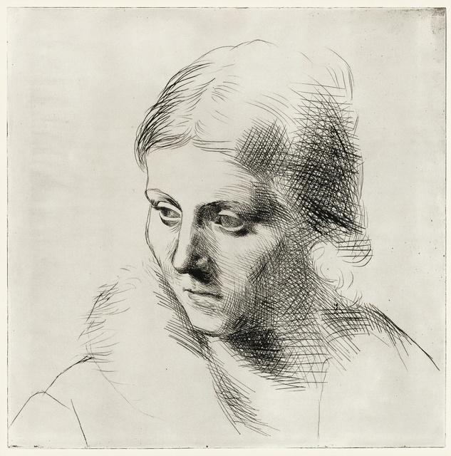 Pablo Picasso, 'Portrait d'Olga au col de fourrure (Ba. 109)', Print, Drypoint, Sotheby's
