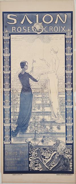 , 'Poster for the first Salon de la Rose+Croix,' 1892, Guggenheim Museum