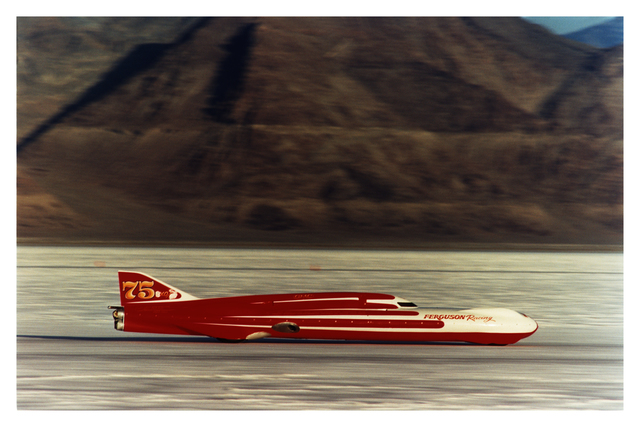 , 'Ferguson Racing Streamliner, Bonneville, Utah,' 2003, Bleach Box