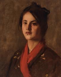 Head of a Young Girl (The Gray Kimono)