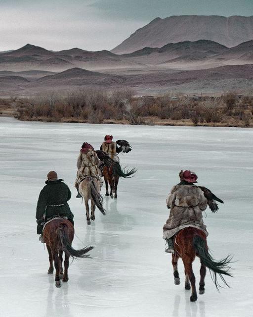 , 'VI 468 - Kazachs on ice Altantsogts, Bayan Olgii,Mongolia,' 2011, AbrahamArt