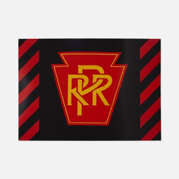 Robert Cottingham, 'PRR Railroad, Unique Panel from the Union Train Station Installation in Hartford, Conn., 1987', 1987, Painting, Unique Enamel on Aluminum Panel, David Lawrence Gallery