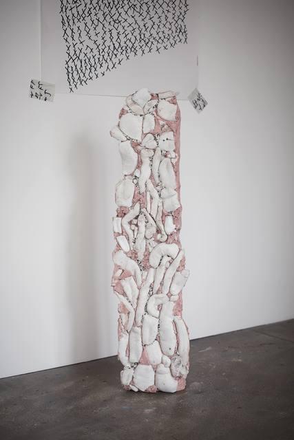 Michael Dean, 'analogue x', 2015, Sculpture, Concrete, tree straps, book pages, book, Supportico Lopez
