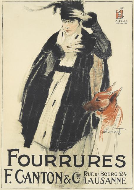 , 'F. Canton/Fourrures,' 1918, Rennert's Gallery