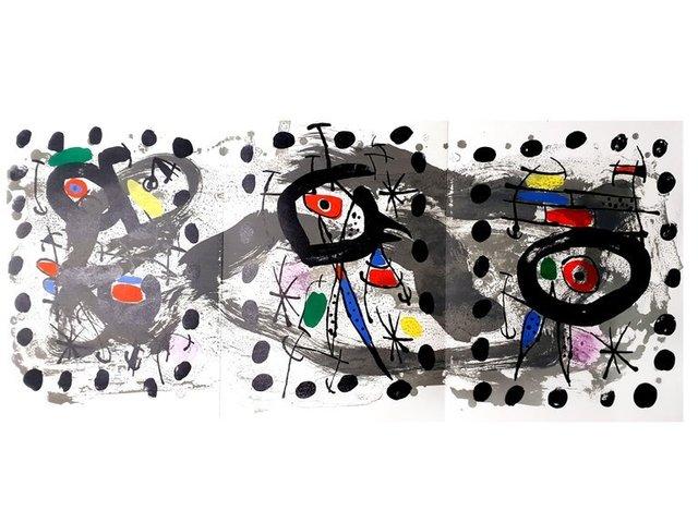 Joan Miró, 'Joan Miro - Moon Bird, Sun Bird - Original Lithograph', 1967, Galerie Philia
