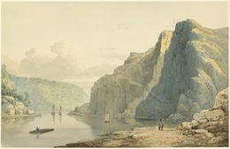Francis Danby, 'Saint Vincent's Rocks and the Avon Gorge', 1815/1818, Drawing, Collage or other Work on Paper, Watercolor over graphite on wove paper, National Gallery of Art, Washington, D.C.