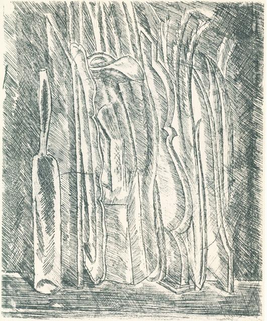 , 'Natura morta con bottiglia e brocca,' 1915, Galleria d'Arte Maggiore G.A.M.