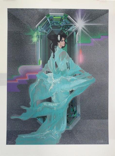 , 'Lady in Aqua,' , The Loft Fine Art
