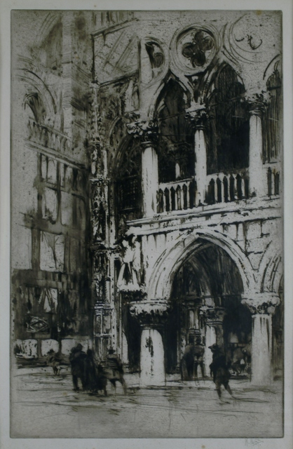 William Walcot, 'Doorway to the Doge's Palace, Venice', 1915, Private Collection, NY