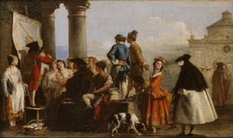 Giovanni Domenico Tiepolo, 'The Storyteller', 1773, Blanton Museum of Art