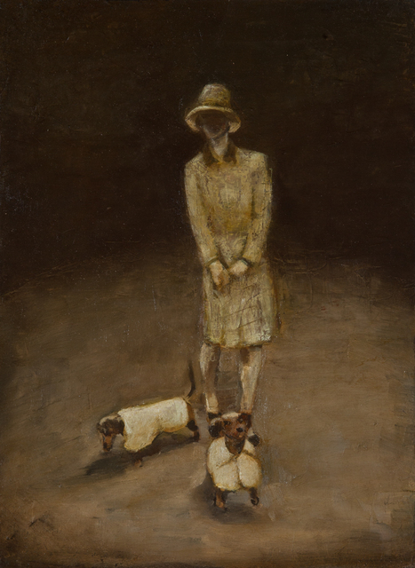 , 'The Lady with the Dogs,' 2013, Slete Gallery