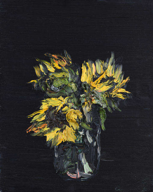 Allison Schulnik, 'Sunflowers ', 2008, Painting, Oil on canvas, Mark Moore Fine Art