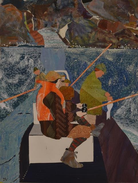 , 'Fishing on the Pentland Firth,' 2014, Rebecca Hossack Art Gallery