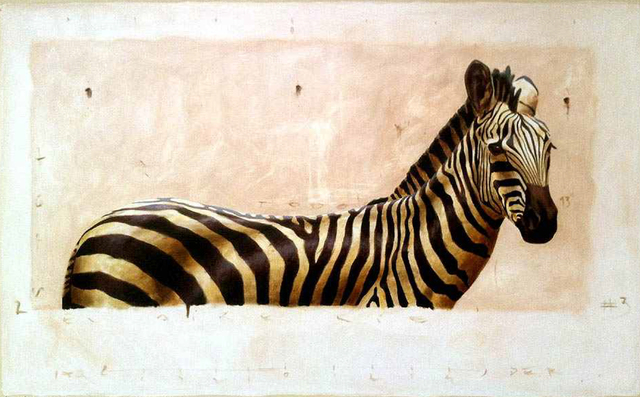 "Santiago Garcia, '""Andante #2"" Contemporary Depiction of Zebra in Neutral Colors', 2010-2018, Eisenhauer Gallery"