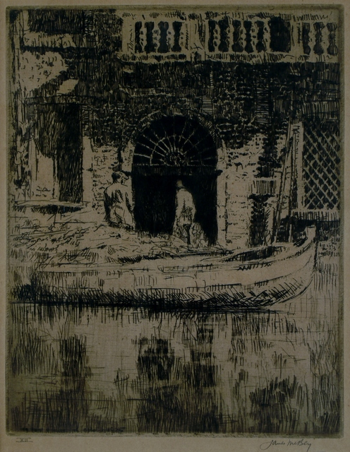 James McBey, 'The Doorway', 1925, Private Collection, NY