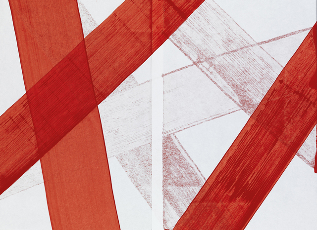 , 'Untitled (Paper Wrapped by Red Line),' 2012, IAILA