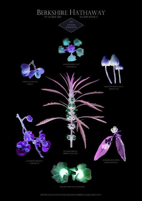 , 'HFT The Gardener/Botanical Prints /  Rank 5: Berkshire Hathaway - US - Nonlife insurance,' 2015, P.P.O.W