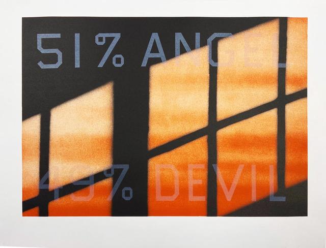Ed Ruscha, '51 % Angel / 49% Devil', 1984, Hamilton-Selway Fine Art