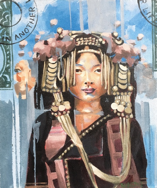 RU8ICON1, 'AKHA HILL TRIBE WOMAN, LAOS', 2017, Deep Space Gallery