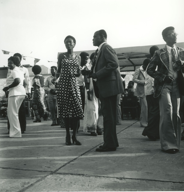 , 'Accra, c. 1976, Employees at Rothman's dance outside the factory to the sounds of highlife.,' 2017, Galerie Clémentine de la Féronnière