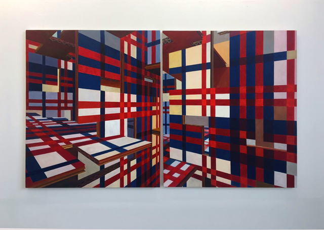 , 'Piet Mondrian on 3d after the Maroons' textiles from Suriname,' 2017, 80M2 Livia Benavides