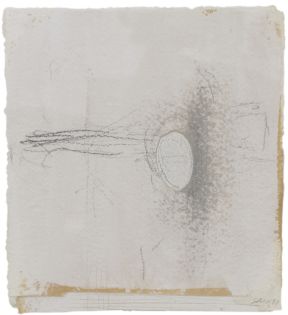 , 'Twelve  Drawings from the 44th Year, No. 8 (Baptiste - Near the Light),' 1987, Betty Cuningham