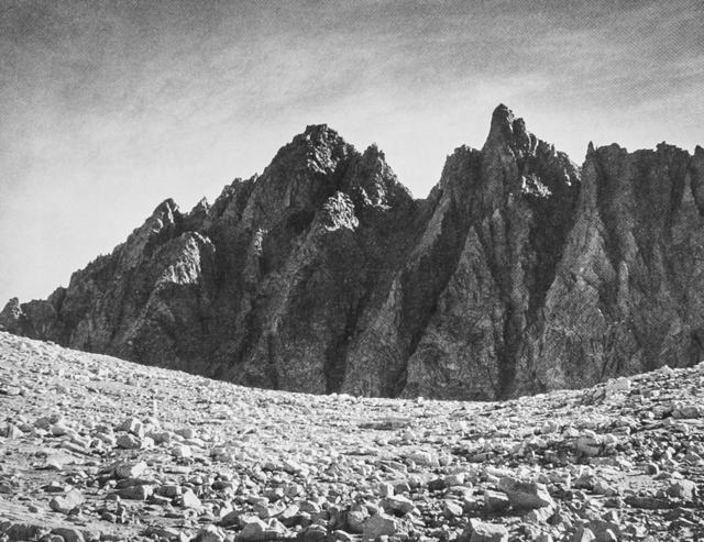 Ansel Adams, 'Bishop Pass and the Inconsolable Range', 1939, Photography, Photographic Paper, White Cross