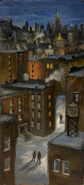 """Carole Teller, 'The """"Hood"""" In Snow', 2020, Painting, Oil, The Galleries at Salmagundi"""