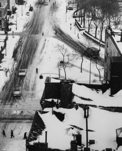 , 'Snow Covered Streets and Roof Tops, January 30,' 1961, Bruce Silverstein Gallery