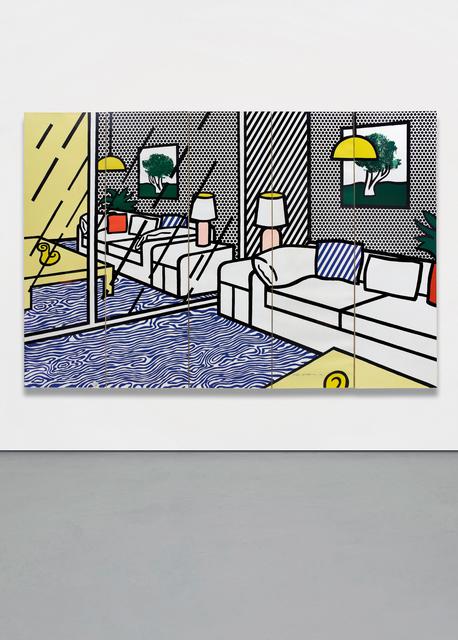 Roy Lichtenstein, 'Wallpaper with Blue Floor Interior', 1992, Phillips