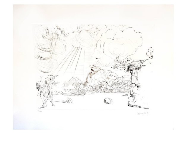 "Salvador Dalí, 'Original Etching ""Cadaques Beach"" by Salvador Dali', 1967, Galerie Philia"
